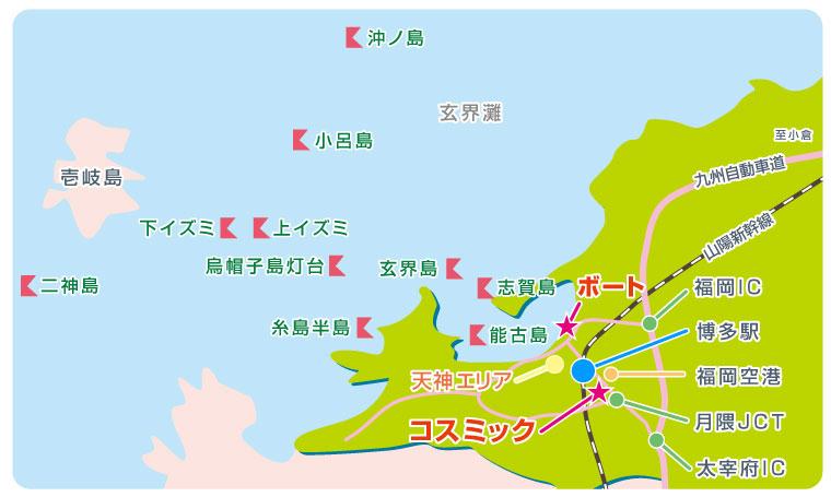 福岡・博多ポイントマップ